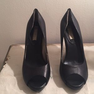 Banana Republic black peep toe heel / pump size 9
